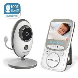 Yimaler Baby Monitor Wireless Video with Digital Camera 2 Way Audio 2.4inch Screen Night Vision  ...