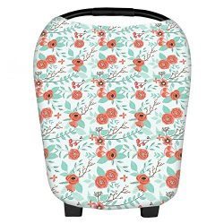 "Baby Car Seat Cover Canopy & Nursing Cover 5 in 1 ""Juliette"" by Belle & Baby"