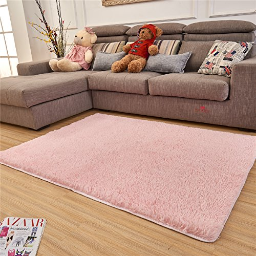 Adasmile Super Comfortable Thin Indoor Modern Shaggy Area Rugs Floor Mat Cover Carpets With