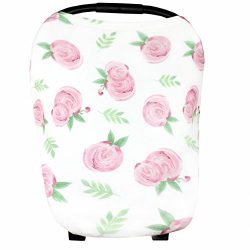 """Baby Car Seat Cover Canopy and Nursing Cover Multi-Use Stretchy 5 in 1 Gift """"Grace""""  ..."""