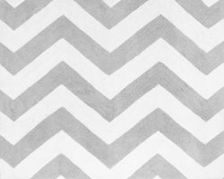 Sweet Jojo Designs Accent Floor Rug for Pink and Gray Chevron Zig Zag Bedding Collection