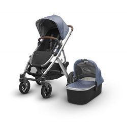 UPPAbaby VISTA Stroller, Blue Marl/Silver/Leather, Henry