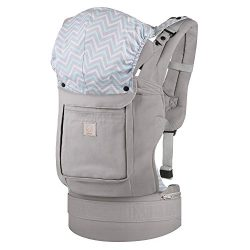 GAGAKU Ergonomic Baby Carrier Soft Cotton Front and Back Child Carrier with Detachable Hood for  ...