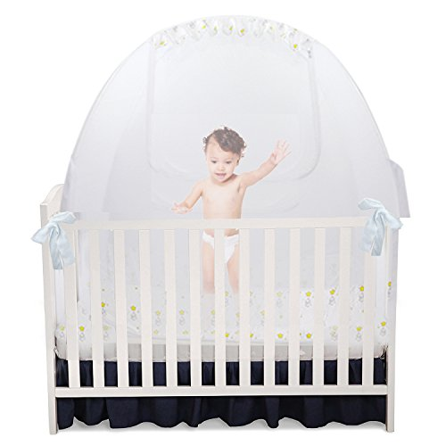 Baby Crib Pop Up Tent: Infant Bed Safety Canopy Cover