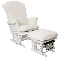 Luxe Basics Cover Me Glider Chair Cover (Chair NOT included), Ivory Dot