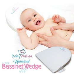 Baby Wishes Universal Bassinet Wedge Incline Pillow for Better Baby Sleep | Premium Breathable C ...