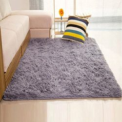 DODOING Super Soft Indoor Modern Shag Area Silky Smooth Rugs Living Room Floor Mat/cover Carpets ...