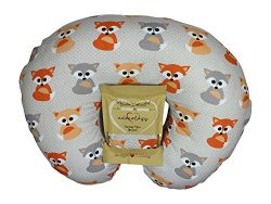Nursing Pillow Slipcover Baby Gray Foxes Design Maternity Breastfeeding Newborn Infant Feeding C ...