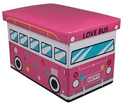 60's Love Bus Collapsible Storage Organizer by Clever Creations   Storage Box Folding Stor ...