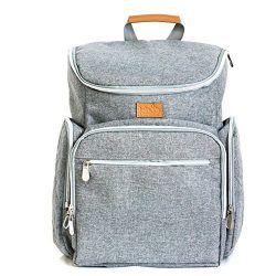 Baby Diaper Backpack Bag w/ Portable Changing Pad, Durable Baby Organizer with Insulated Pockets ...
