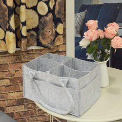 Baby Diaper Caddy Organizer – Nursery Storage Bin Car Organizer and Portable Diaper Bag St ...