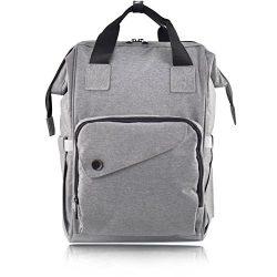 Diaper Bag Backpack – Large Durable Multi Function Travel Bag – High capacity, Insul ...
