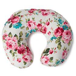 Minky Nursing Pillow Cover | White Floral Pattern Slipcover | Best for Breastfeeding Moms | Soft ...