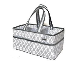 Large Baby Diaper Caddy Organizer-Nursery Storage Bin for Changing Table-Portable and Travel Fri ...