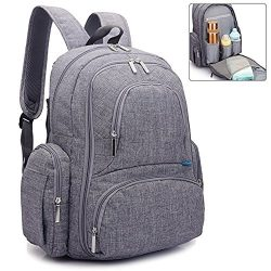 REGIONAL'S Baby Diaper Backpack | Scratch Proof with Insulated Pockets | Large Size Water- ...