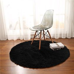 Junovo Super Soft Thick Anti-Skid Fluffy Round Children Area Rug for Living Room Bedroom Kids Ro ...