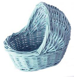 Willow Cradle Baby Shower Boy Basket in Blue – 7.5″L x 7.5″