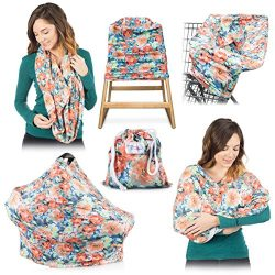 High Quality Stretchy Baby Car Seat Cover, Canopy, Nursing And Breastfeeding Cover, Kutest N' Pr ...