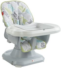 Fisher-Price SpaceSaver High Chair, Green/Blue/Grey