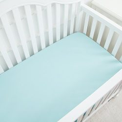 Microfiber Fitted Crib Sheet with Elastic, 28″x52″ | Silky Soft Cozy Hypoallergenic  ...