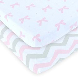Cuddly Cubs Pack n Play Sheets | 2 Pack Playard Sheet For Baby Girl and Boy | 100% Jersey Cotton ...