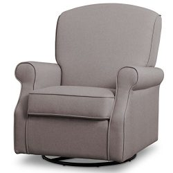 Delta Children Parker Nursery Glider Swivel Rocker Chair, Heather Grey