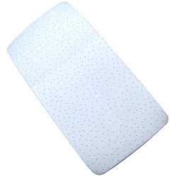 BabyPrem Baby Bedding Fitted Cotton Cradle Pram Sheet 35″ x 16″ BLUE SPOT