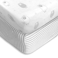 Cuddly Cubs Baby Crib Mattress Sheets Set | 2 Pack Crib Fitted Sheet For Boys, Girls, Toddler |  ...