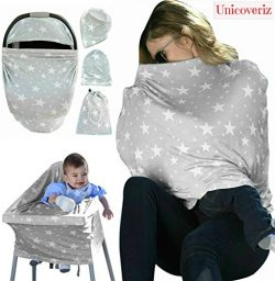 Nursing Breastfeeding Cover Scarf | Baby Car Seat Canopy | Pouch & Gift Pack Set | Highchair ...