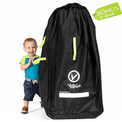 VolkGo DURABLE Stroller Bag for Airplane – Standard or Double / Dual Stroller Gate Check Bag