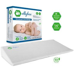 Ellybee Universal Crib Wedge Pillow for Baby Crib Mattress | Baby's with GERD / Acid Reflux | Pr ...