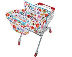 UNKU Multifunctional 2-in-1 Shopping Cart Cover High Chair Cover for Baby & Infant – C ...