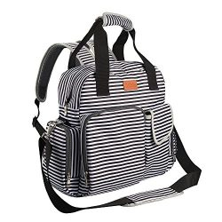 Diaper Bag Backpack for Baby Care, Multi Function Waterproof Insulated and Cooler Tote Travel Ba ...
