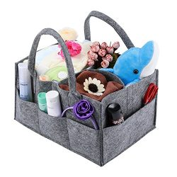Baby Diaper Caddy, Magicfly Portable Nursery Storage Bin for Home Nursery and Car, Diaper Storag ...