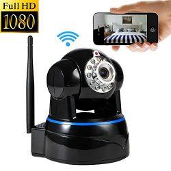Wireless Camera, UOKOO1080p WiFi Security Camera Built-in Microphone, 2-Way Audio Remote Wireles ...