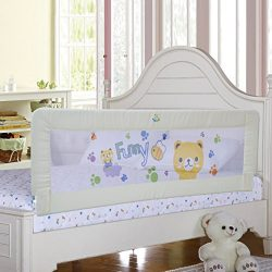 Baby Bed Rail Children Extra Long Bed Guard Toddler Safety Fold Down Bedrail Potable Stop Fallin ...