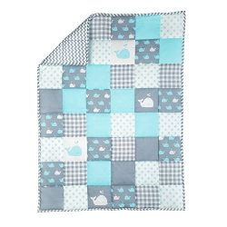 RAJRANG Plush Blue Toddler Blanket Soft Cot Comforter for Boys and Girls Pure Cotton Baby Cradle ...