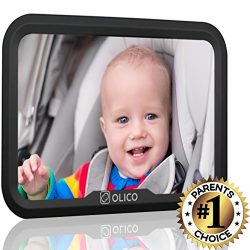 Baby Mirror by Olico Products, Baby View Mirror For Car Back Seat, Fully Adjustable, Easy Instal ...