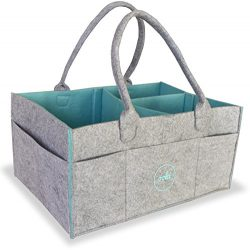 Ooki Baby Diaper Caddy – Large and Sturdy Nursery Basket for Boys and Girls – Portab ...