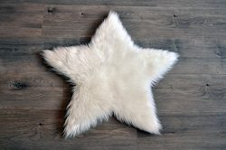 Machine Washable Faux Sheepskin White Star Rug 3′ x 3′ – Soft and silky &#8211 ...