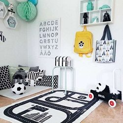 Lzttyee Rectangle Highway Pattern Baby Racing Game Blanket Crawling Mat Adventure Carpet Playmat ...