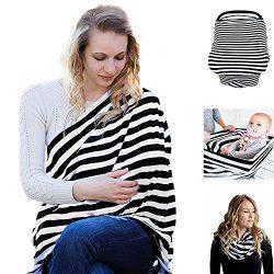 E-More Baby Nursing Breastfeeding Cover Scarf – Multi Use Infinity Stretchy Shawl Baby Car ...