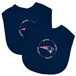 Baby Fanatic Team Color Bibs, New England Patriots, 2-Count