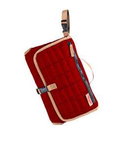 MAMAN Portable Changing Pad Station – Waterproof Cushioned Diaper Changing Mat Organizer f ...