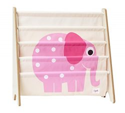3 Sprouts Book Rack, Elephant/Pink