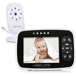 Home Video Baby Monitors Camera 3.5″ Large LCD Screen Night Vision Two Way Talk Monitoring ...