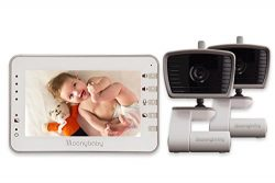 MoonyBaby 4.3 Inches LCD Video Baby Monitor TWO CAMERAS PACK with Automatic Night Vision & T ...