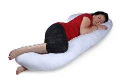 Versatile C-Shaped Full-Body Pregnancy Maternity Baby Nursing Pillow Cushion with Zippered Washa ...