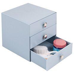 mDesign Baby Nursery 3-Drawer Storage Organizer, for Binkies, Medicine, Lotion, Thermometer, Nas ...