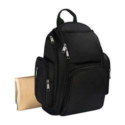 Mancro Backpack Diaper Bag,Multi-Function Durable Organizer Baby Diaper Bag for Women/Men with S ...